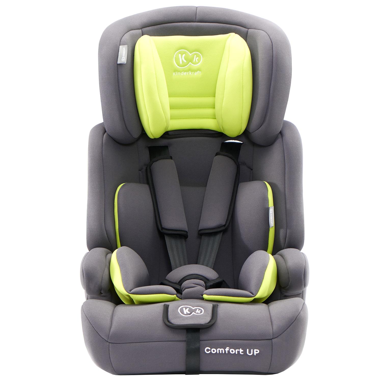 Fotografie Scaun auto Kinderkraft Comfort UP, 9-36 kg, Gri/Verde