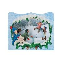 Картичка Gespaensterwald, 3D, Merry Christmas, Игра в снега