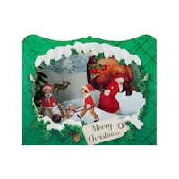 Картичка Gespaensterwald, 3D, Merry Christmas, Зелена