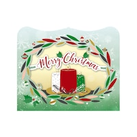 Картичка Gespaensterwald, 3D, Merry Christmas, Венец и свещи