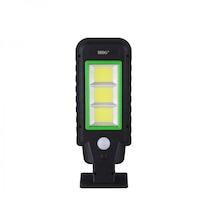 Улична лампа MRG A-HS-8011D, Соларен панел, 120 LED, Черна