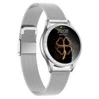 NEOGO SmartWatch Glam 2, női okosóra, ezüst/fém
