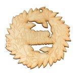 Комплект коледен венец малък с надпис, Натурален, 9 х 9 см, 10 бр.