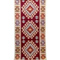 Szőtt szőnyeg Golden Daisy , 80 x 400 cm, Piros