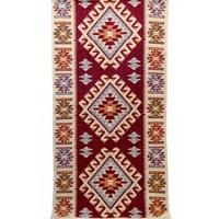 Szőtt szőnyeg Golden Daisy , 60X300 cm, piros