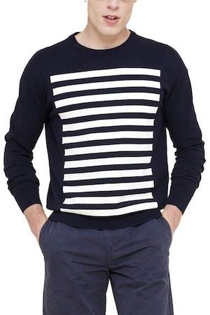 Aigle Porber sötétkék színű férfi pulóver