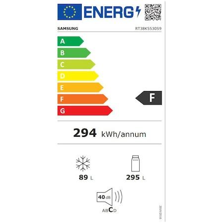 Хладилник Samsung RT38K5530S9/EO, 384 л, Клас F, No Frost, H 178.5, Инокс