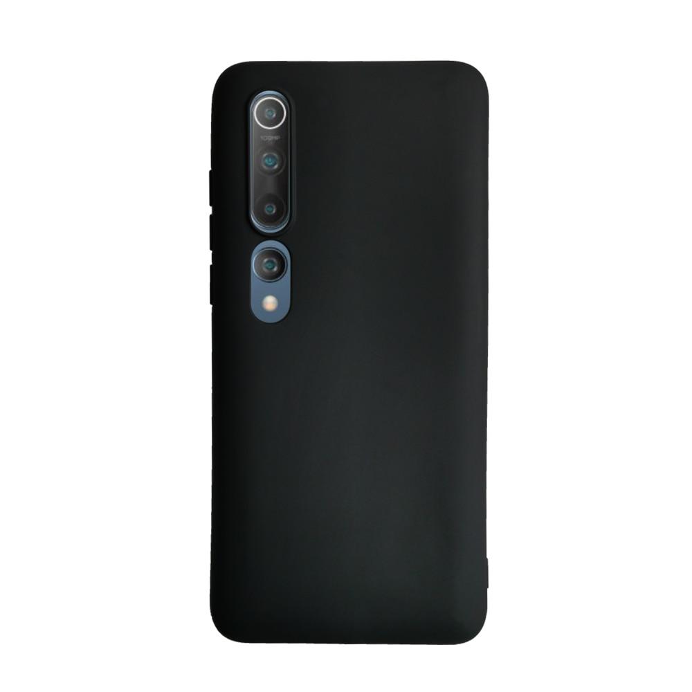 Fotografie Husa de protectie Senso Silicon Soft Mat pentru Xiaomi Mi 10/Mi 10 Pro, Negru