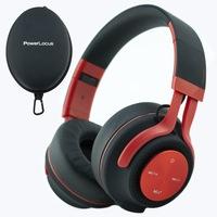 PowerLocus P3 Bluetooth fejhallgató,40 óralejátszási idő, ,vezeték nélküli fül köré illeszkedő összehajtható - Matt Piros