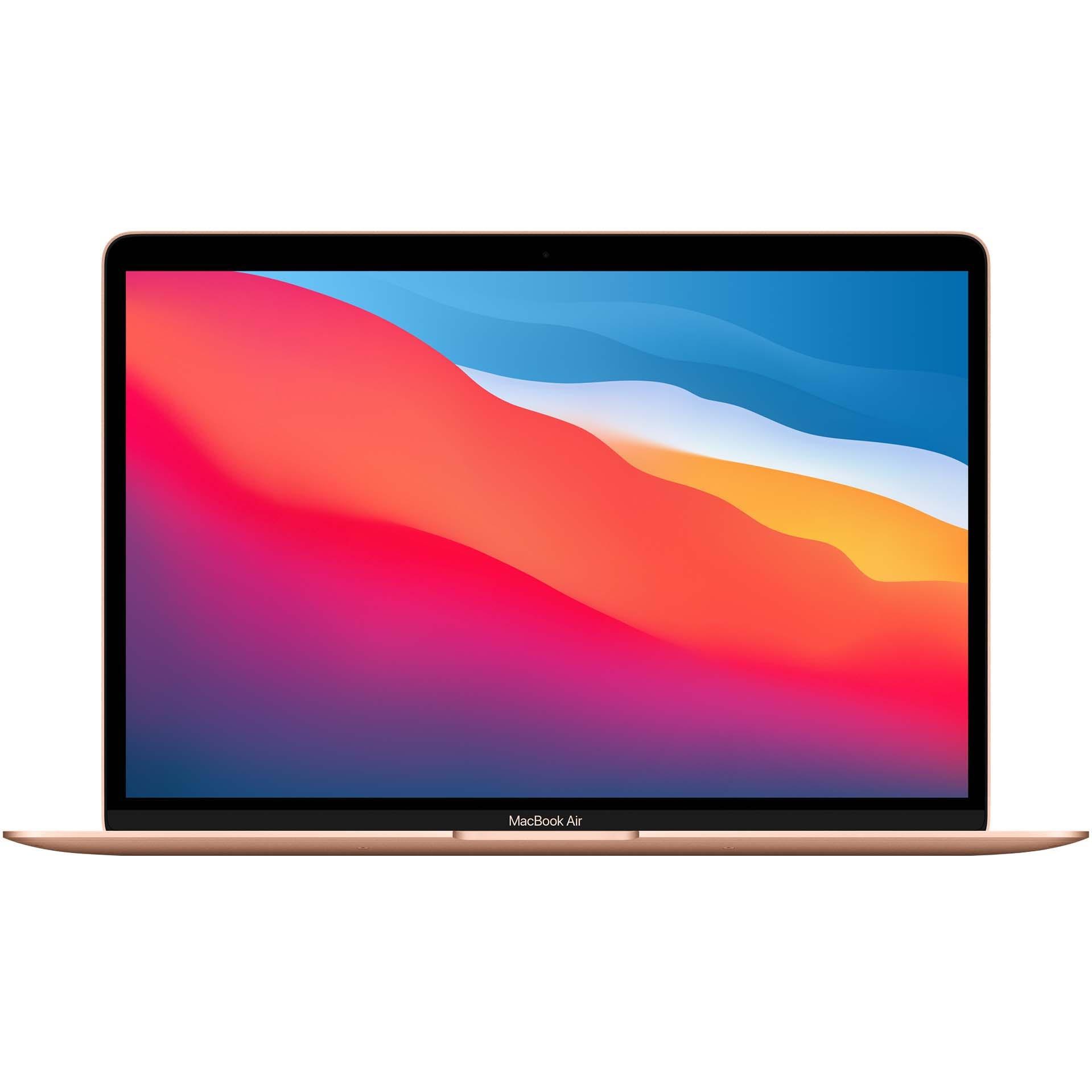 Fotografie Laptop Apple MacBook Air 13-inch, True Tone, procesor Apple M1 , 8 nuclee CPU si 7 nuclee GPU, 8GB, 256GB, Gold, INT KB