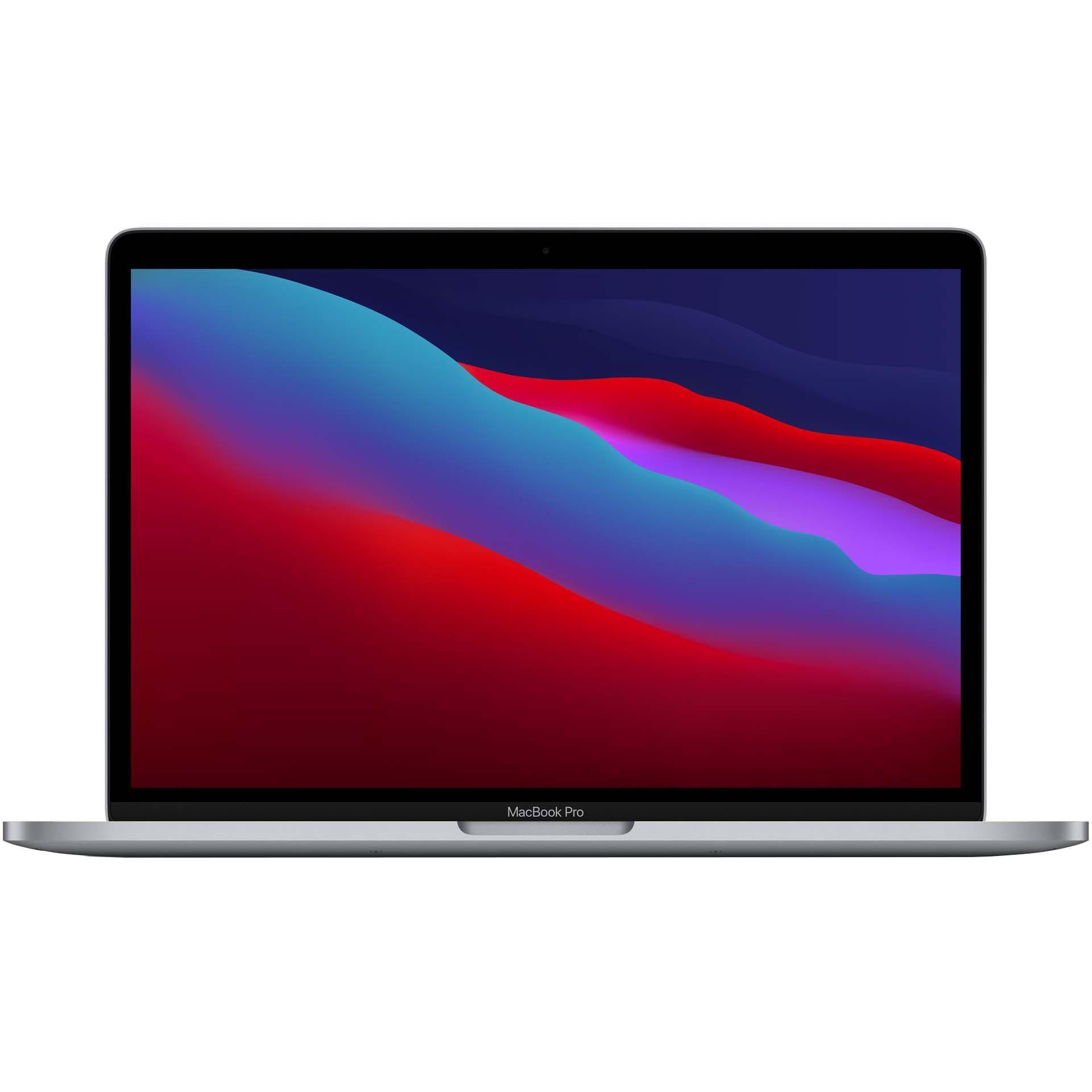 Fotografie Laptop Apple MacBook Pro 13-inch, True Tone, procesor Apple M1, 8 nuclee CPU si 8 nuclee GPU, 8GB, 512GB SSD, Space Grey, INT KB