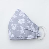3 rétegű mosható textil maszk G3 szűrővel - Szürke kalózos - M (női) méret