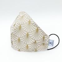 3 rétegű mosható textil karácsonyi maszk G3 szűrővel - BeigeRose - M (női) méret