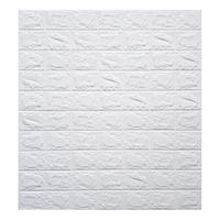 3D falpanel öntapadós fehér téglafal 70x77cm