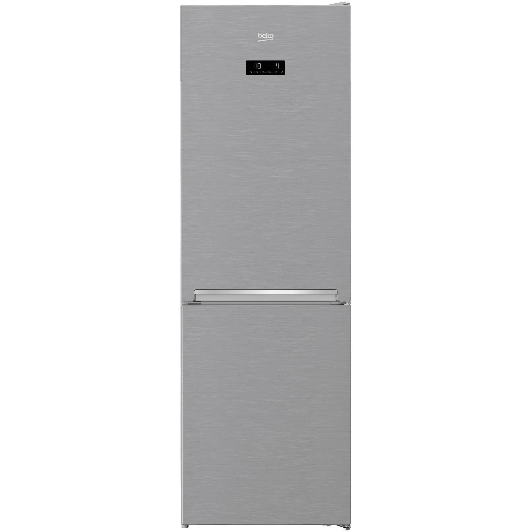 Fotografie Combina frigorifica Beko RCNA366E40ZXBN, 324 l, Neo Frost, Touch control, HarvestFresh, Clasa E, H 185 cm, Argintiu
