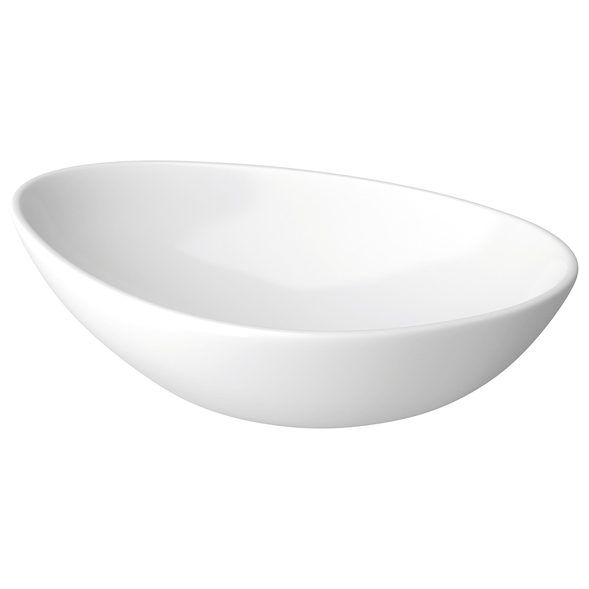 Fotografie Lavoar forma neregulata Cersanit MODUO 55 K116-052, pentru blat, compatibil cu dulapuri/blaturi Moduo sau Crea, 56.5x15 cm, adancime 36.5 cm, Ceramic