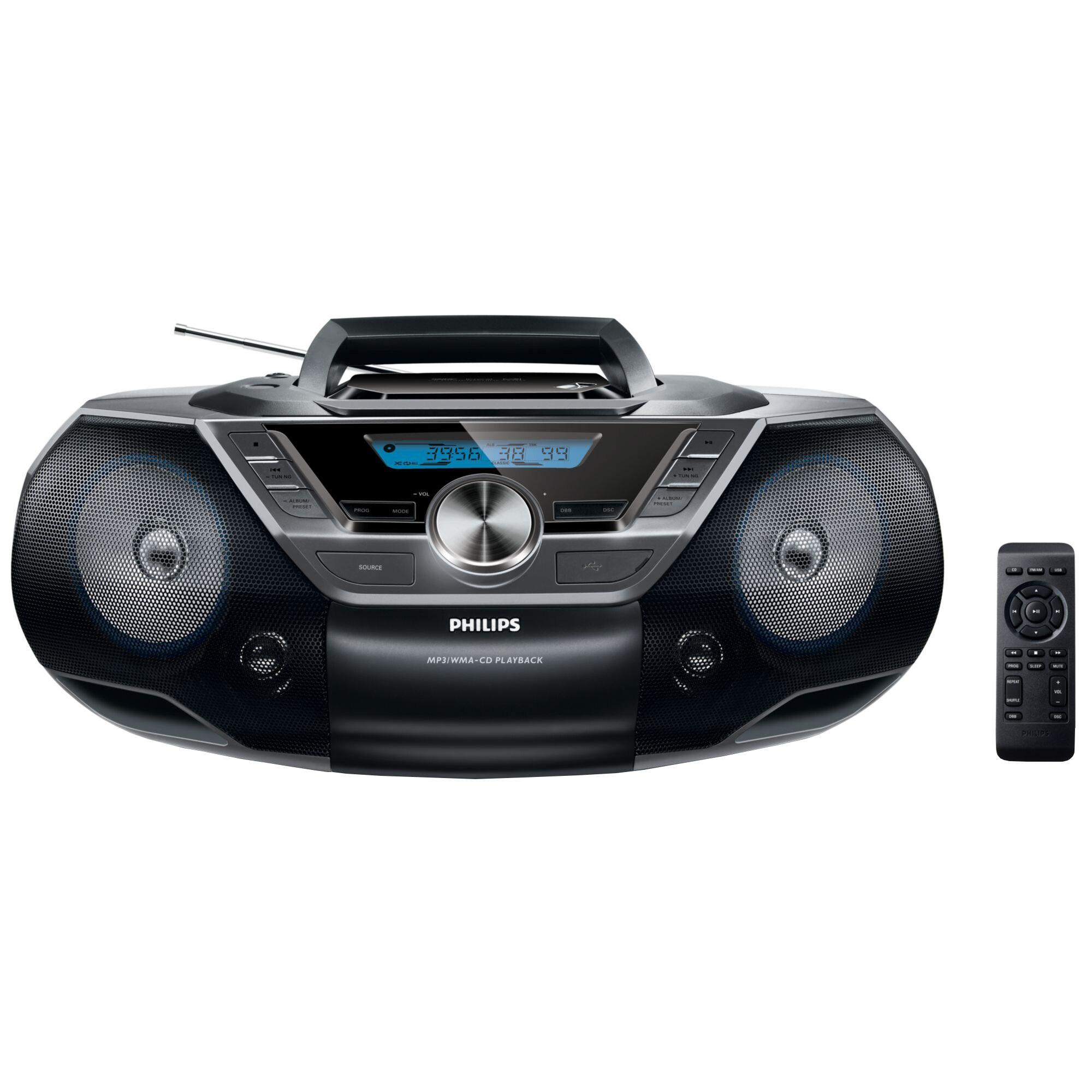 Fotografie Microsistem audio Philips AZ780/12, CD, MP3-CD, USB, FM, Telecomanda