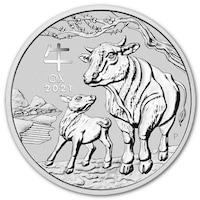Сребърна монета The Perth Mint 1 Oz Лунарен календар, Година на Бика - 2021