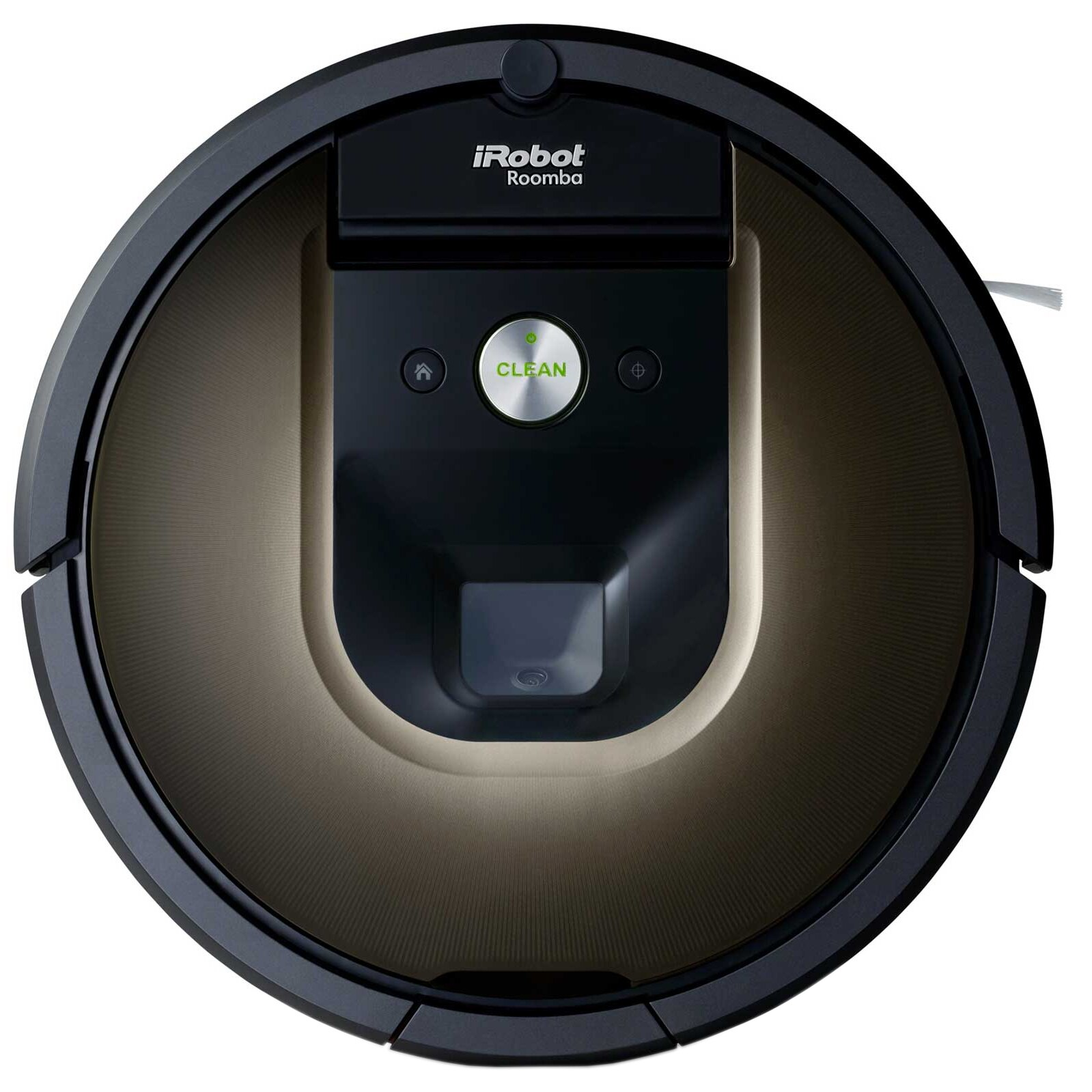Fotografie Robot de aspirare iRobot Roomba 980, Navigare iAdapt, Carpet Boost, Filtru dublu Hepa, Curatare AeroForce, Negru/Maro