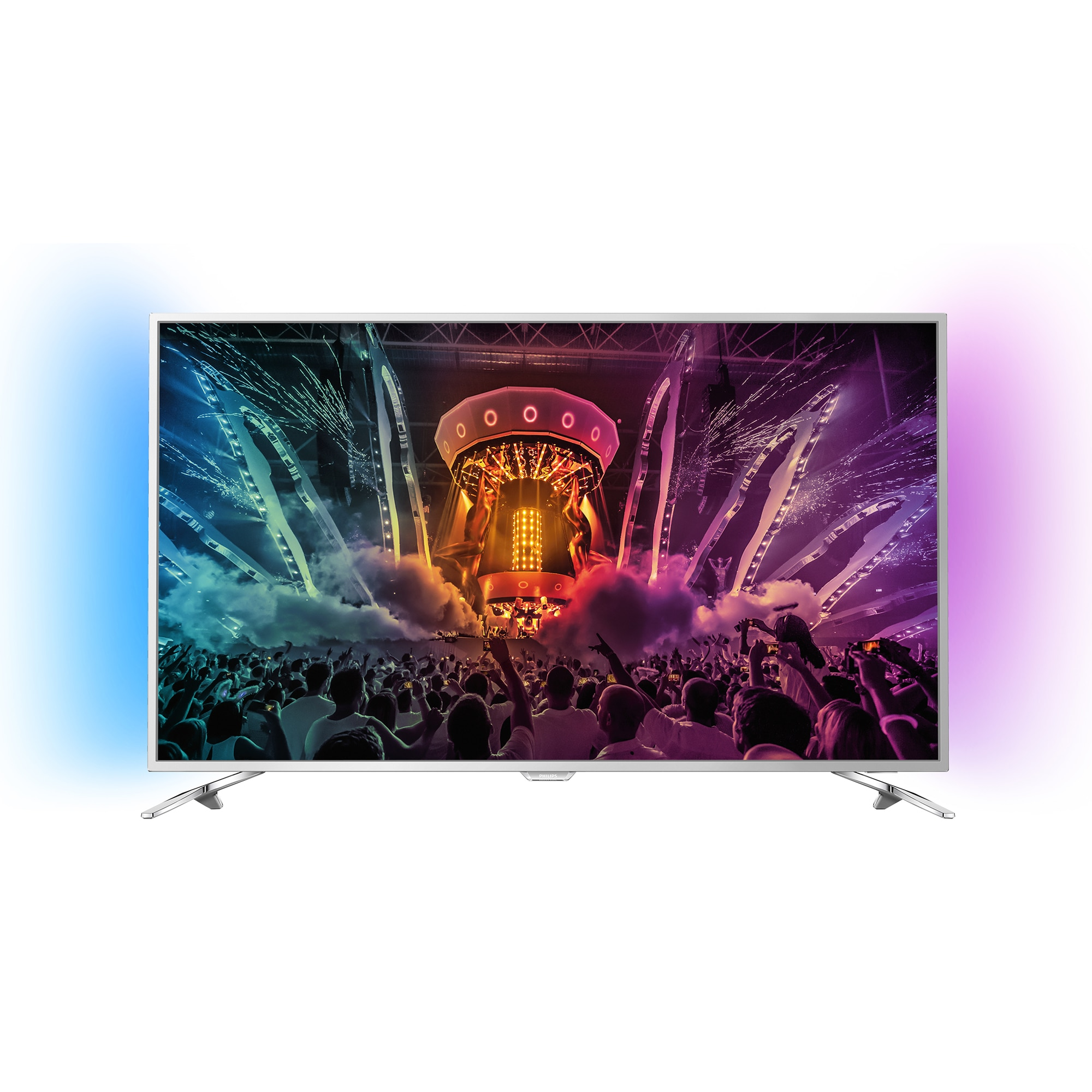 Fotografie Televizor LED Smart Android Philips, 123 cm, 49PUS6501/12, 4K Ultra HD, Clasa B