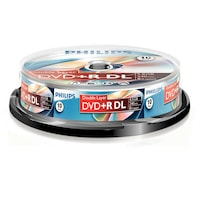 DVD+R Philips, Double Layer, 8.5GB, 8X, 10 darab