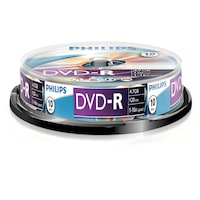 DVD-R Philips, 4.7GB, 16X, 10 darab