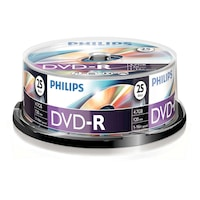 DVD-R Philips, 4.7GB, 16X, 25 darab