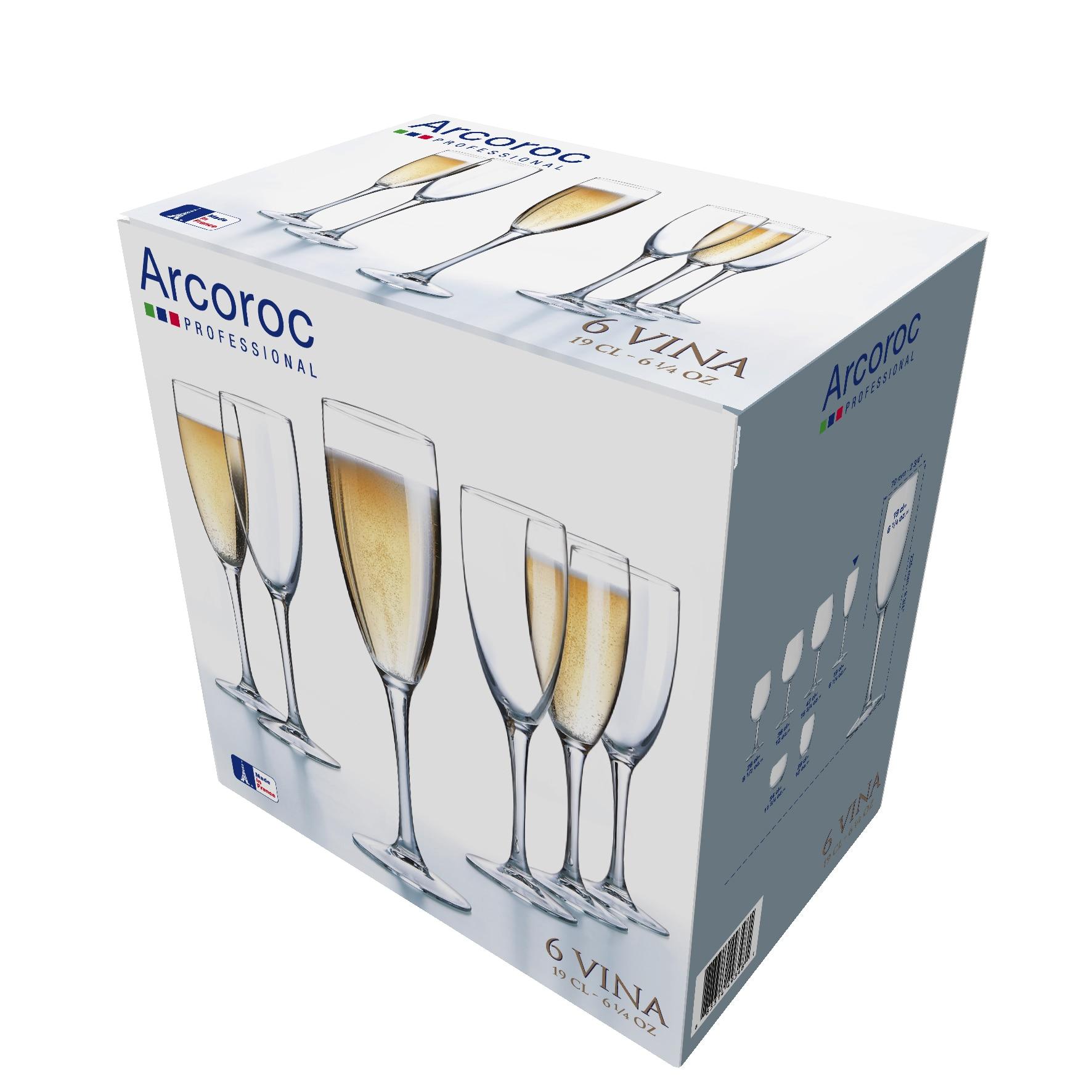 Fotografie Set 6 pahare Arcoroc flute Vina, 190 ml