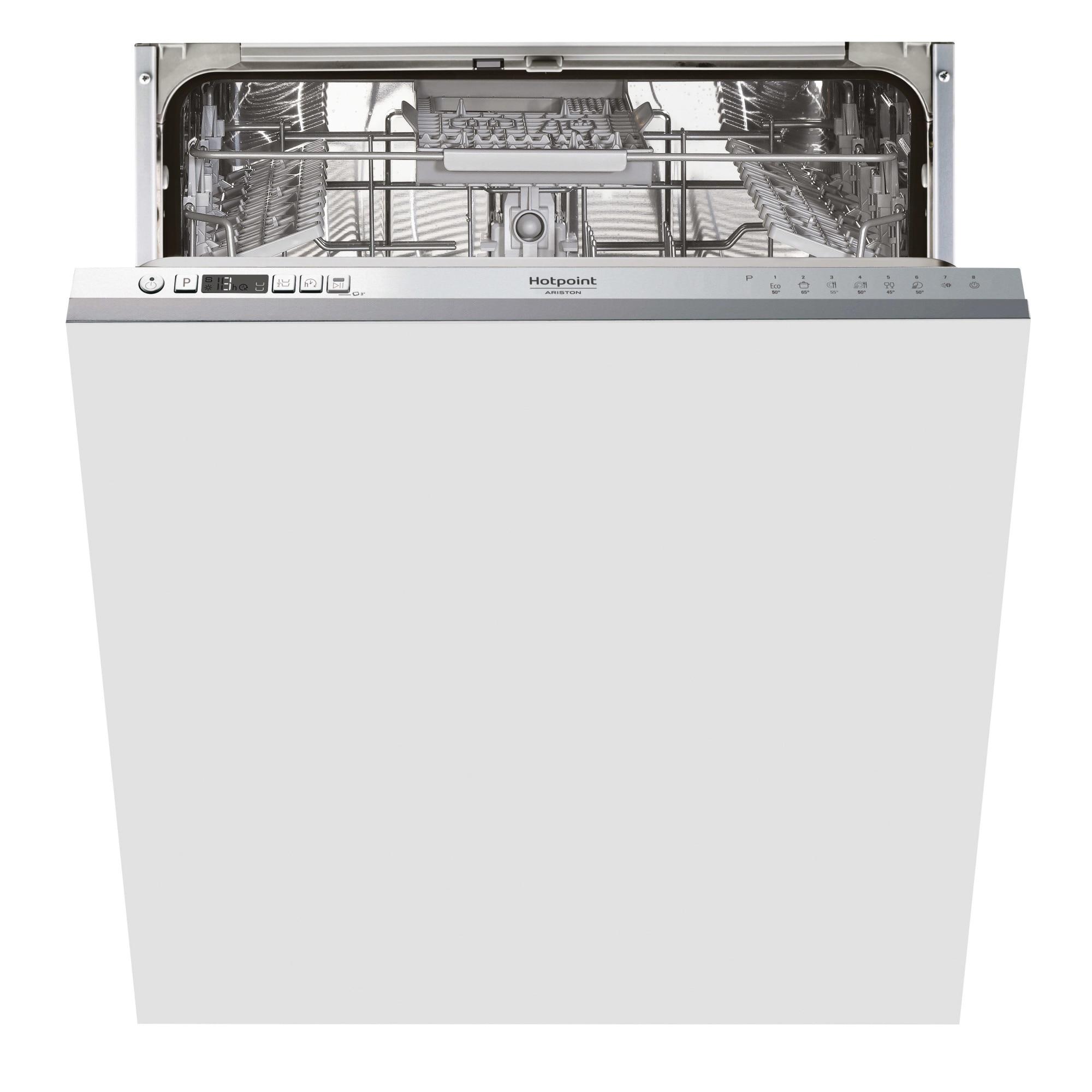 Fotografie Masina de spalat vase incorporabila Hotpoint HIC3C26, 14 seturi, 8 programe, Clasa E, Zone Wash 3D, Sistem ActivEco, 59.8 cm