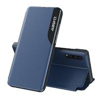 Калъф за телефон Eco Leather View Elegant със стойка за Huawei P30 Pro, син