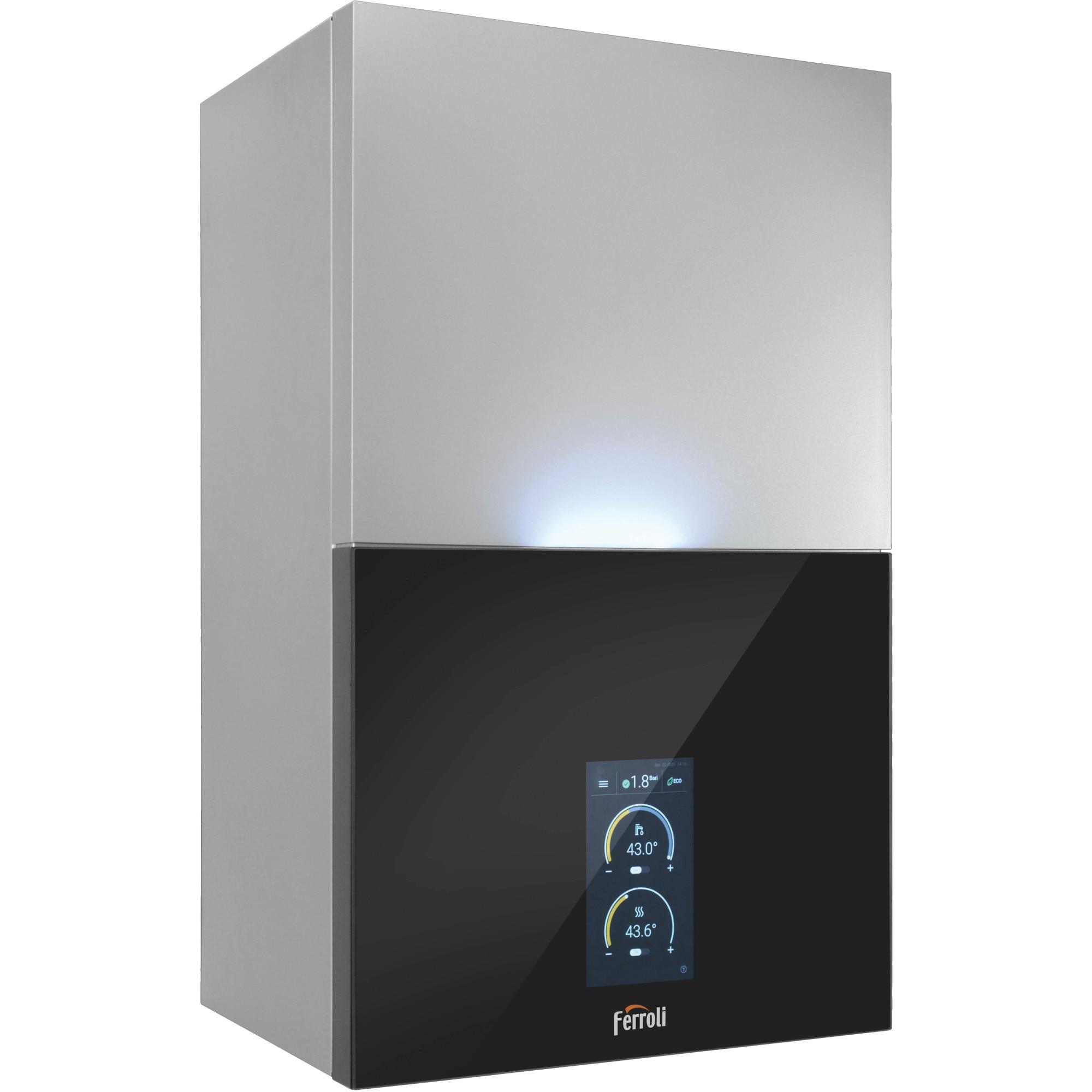 "Fotografie Centrala termica in condensare Ferroli Bluehelix MAXIMA 28C, 28 kW, , touch screen 7"", sistem de combustie autoadaptiv, fara kit evacuare"