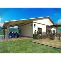 Сглобяема къща от дърво MIPA 144 кв. м РЗП, импрегниран в автоклав иглолистен материал