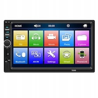 Player auto Farrot 7018B, 2DiN, negro, Radio FM, Navigatie , Camera de vizualizare spate, MirrorLink , Mp5, Ecran 7'', Bluetooth, Touchscreen, Divix , AVI , USB , SD Card , AUX