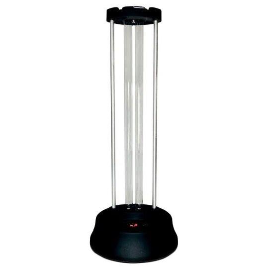 Fotografie Lampa bactericida cu dubla sterilizare Ultraviolete si Ozon, 38W, cu telecomanda, senzor de prezenta si display pentru timer