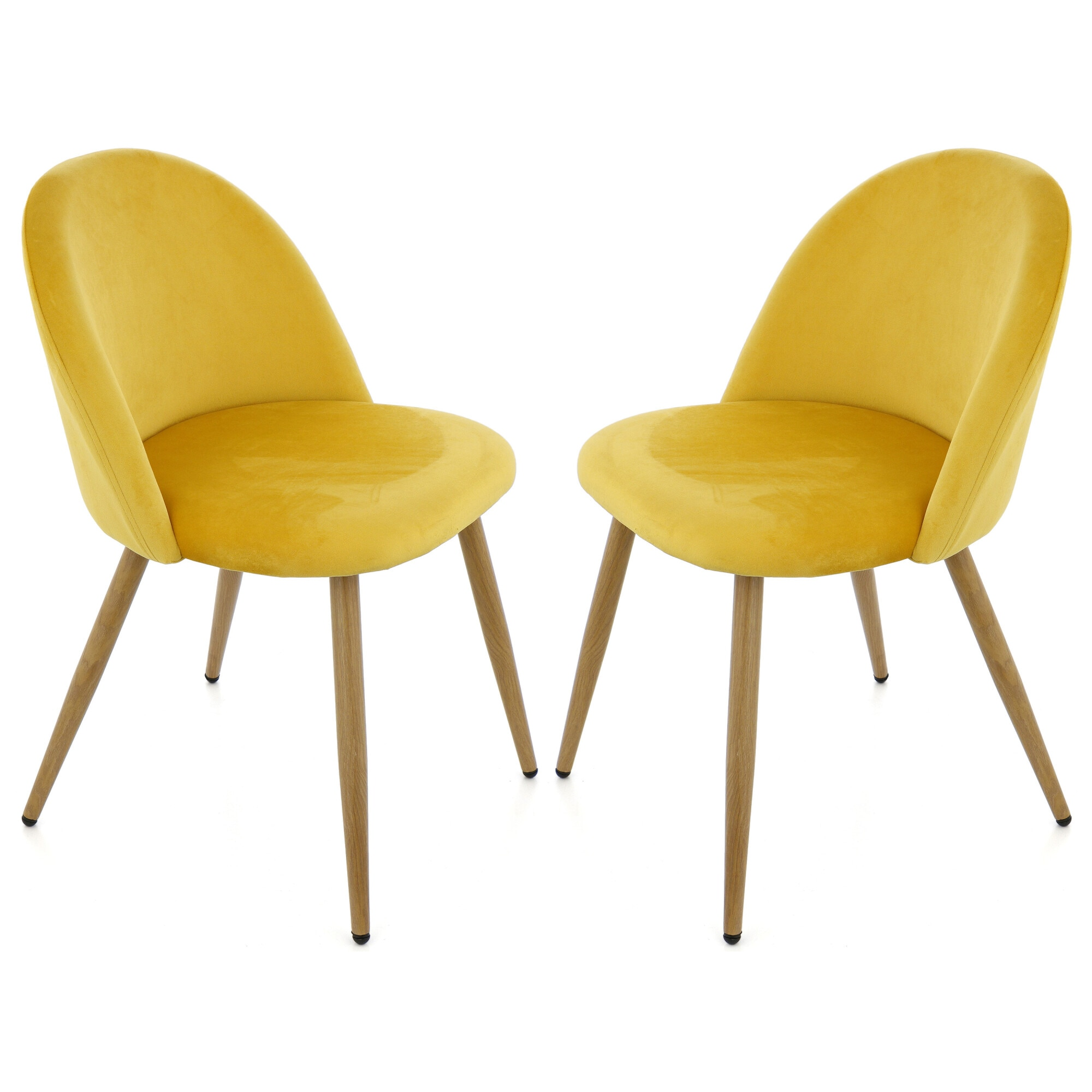 Fotografie Set 2 scaune Kring Elegance, material textil, Galben