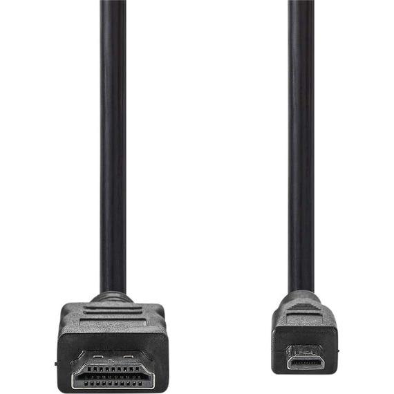 Fotografie Cablu HDMI tata - micro HDMI cu Ethernet 1.5m negru Nedis