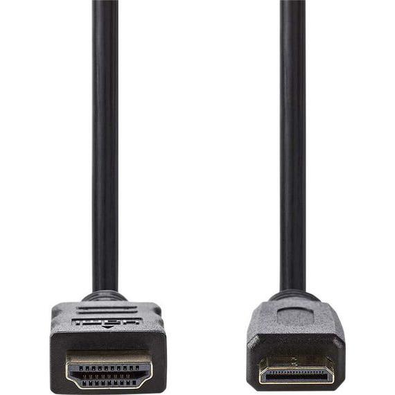 Fotografie Cablu HDMI cu Ethernet HDMI tata - mini HDMI tata 3m negru Nedis