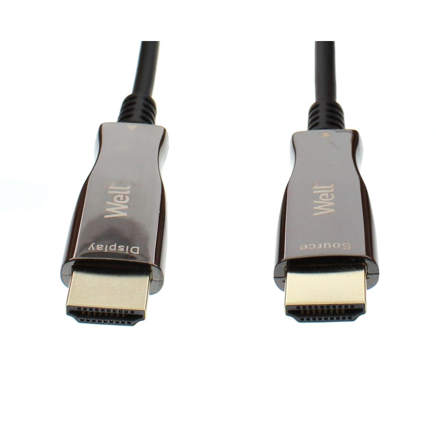 Fotografie Cablu HDMI2.0 cu fibra optica AOC HDMI tata - HDMI tata aurit 15m