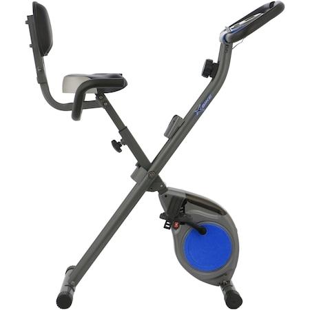 Bicicleta fitness pliabila X-Bike BC-203, culoare gri-albastru