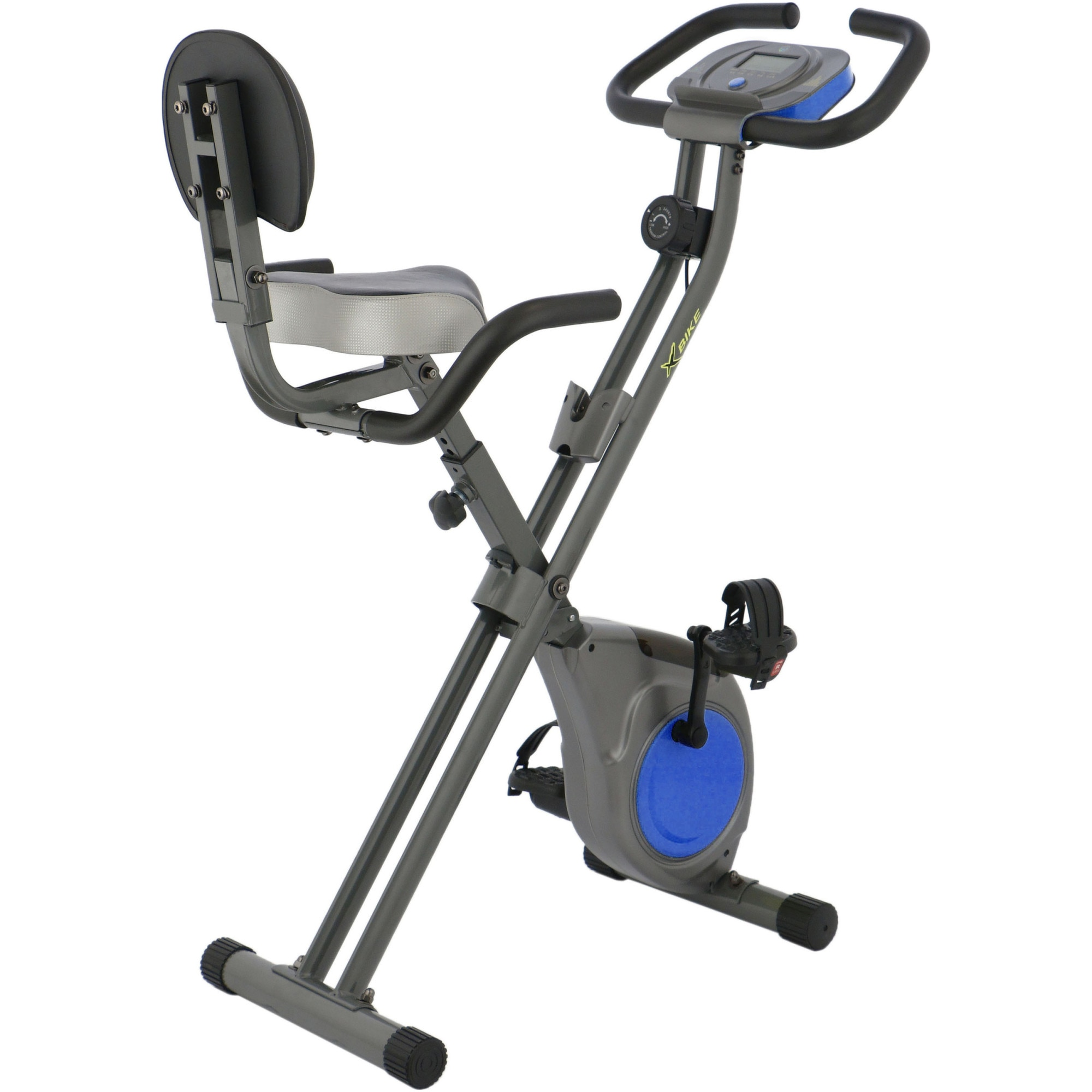 Fotografie Bicicleta fitness pliabila X-Bike BC-203, culoare gri-albastru