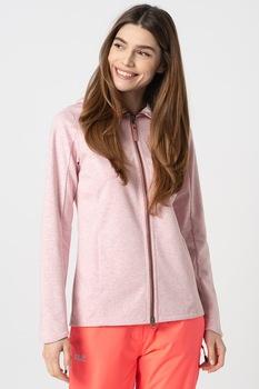 Jack Wolfskin, Riverland kapucnis pulóver oldalzsebekkel, S, Melange Rózsaszín