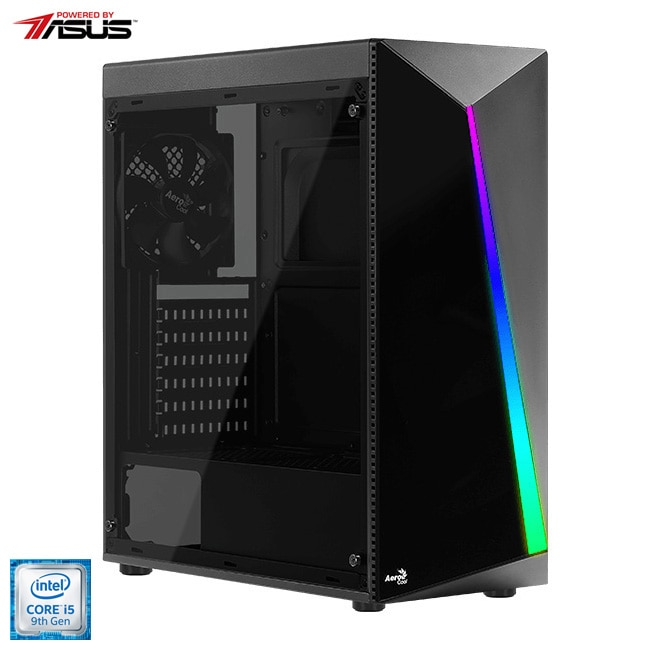 Fotografie Sistem Desktop PC Gaming Serioux Powered by ASUS cu procesor Intel® Core™ i5-9400F pana la 4.10GHz, 16GB DDR4, 512GB SSD, GeForce® GTX 1660 Super™ 6GB GDDR6, Microsoft Windows 10 Home