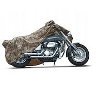 Husa moto Metru Patrat, marimea L, de tip camuflaj, fabricata din nailon gros impermeabil, prelata ce asigura protectie pentru soare , vant , praf , inghet si ninsoare.