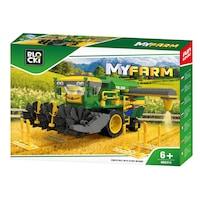 Blocki My Farm Építőipari játék, Mezőgazdasági kombájn, 371 darab