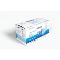 Комплект медицински маски INTEXTRED TYPE IIR, за еднократна употреба, С ултра комфортен ластик, Трислойни, Сини, 50 броя