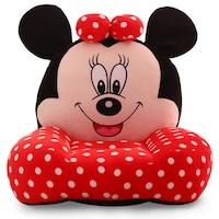 Minnie Mouse Plüss fotel 49x45x40cm, Fekete/ Piros/Fehér