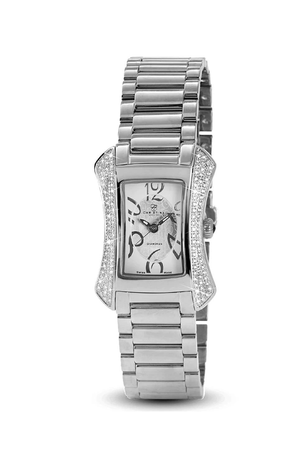 Fotografie Christina Jewelry&Watches, Ceas din otel inoxidabil decorat cu 117 diamante