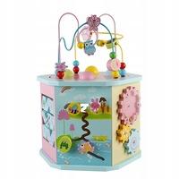 Cub de lemn jucarie educational 8 in 1 pentru bucuria si distractia copiilor garantat cadou perfect