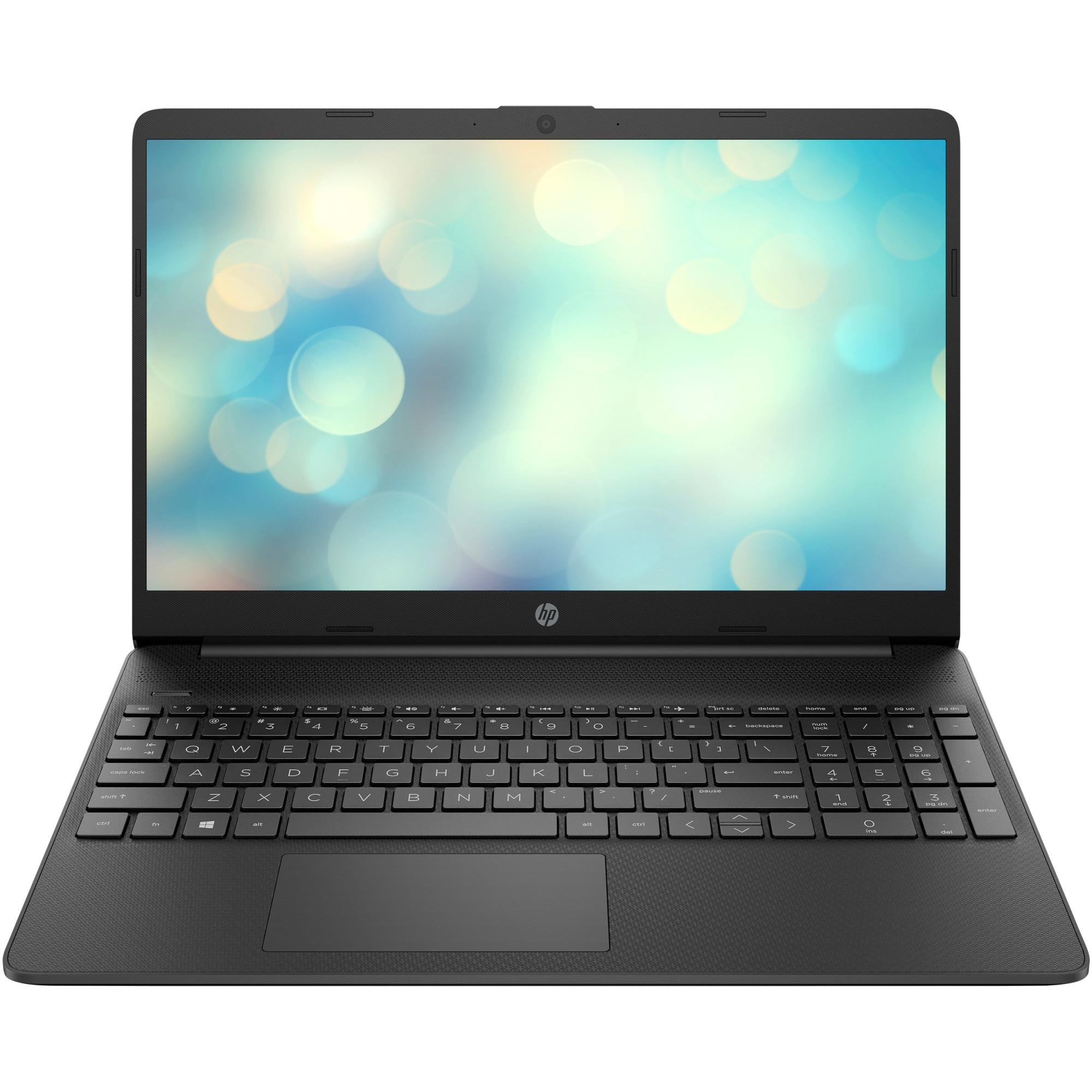 """Fotografie Laptop HP 15s-eq0069nq cu procesor AMD Ryzen™ 7 3700U pana la 4.00 GHz, 15.6"""", Full HD, 8GB, 512GB SSD, AMD Radeon™ RX Vega 10, Free DOS, Black"""