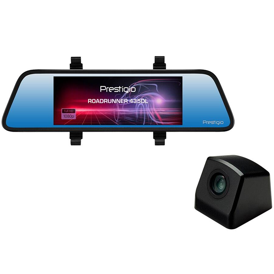 Fotografie Oglinda retrovizoare smart Prestigio RoadRunner 435DL, 6.86'' (1280x480) touch display, Camera duala: fata - FHD 1920x1080@30fps, spate - VGA 640x480@30fps, 2 MP CMOS ,12 MP camera, 125° unghi vizualizare (camera fata)